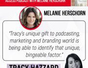 Podcasting Techniques | Tracy Hazzard | The VIP Access Podcast With Melanie Herschorn